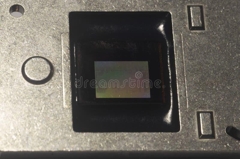 Microplaqueta de DMD imagem de stock