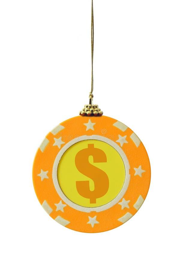 Microplaqueta de jogo do Natal imagem de stock