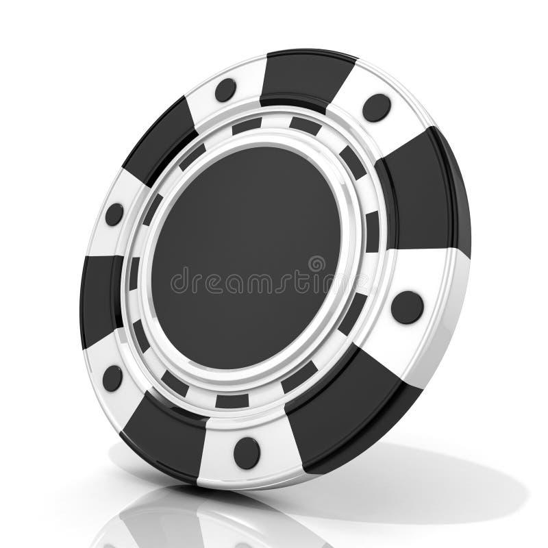 Microplaqueta de jogo preta 3D ilustração stock