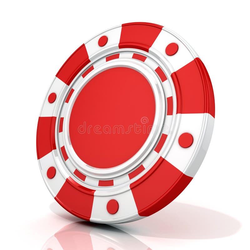 Microplaqueta de jogo vermelha ilustração do vetor