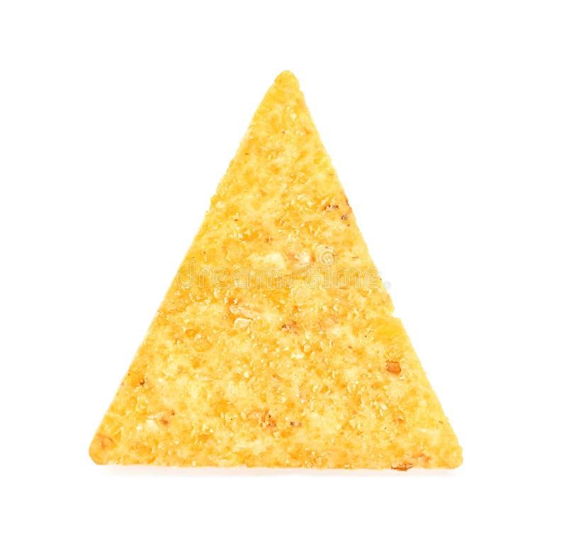 Microplaqueta de milho no fundo branco imagem de stock
