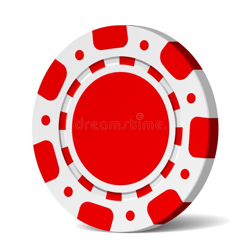 Microplaqueta de póquer do vetor ilustração royalty free