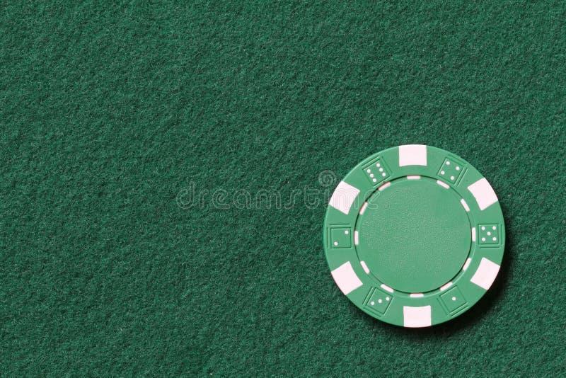 Microplaqueta de póquer verde fotos de stock