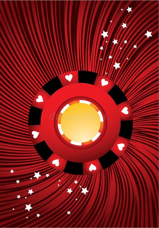 Microplaqueta de póquer vermelha ilustração royalty free