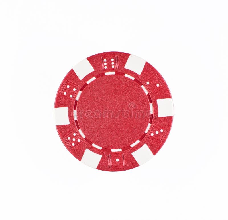 Microplaqueta de póquer vermelha imagem de stock royalty free