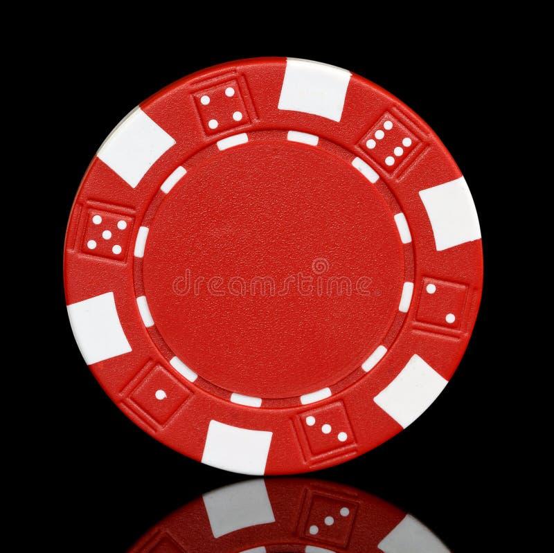 Microplaqueta de póquer vermelha imagens de stock
