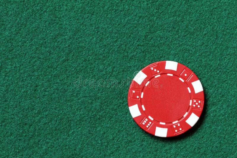 Microplaqueta de póquer vermelha fotos de stock