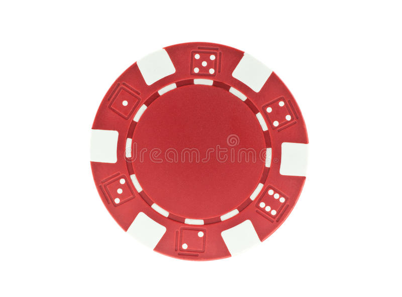 Microplaqueta de póquer vermelha isolada fotos de stock royalty free