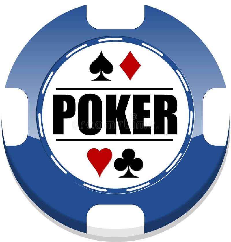 Microplaqueta de pôquer ilustração stock