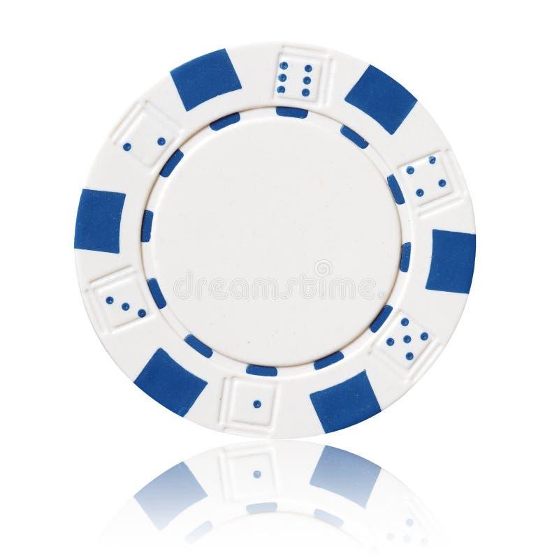Microplaqueta de pôquer branca imagem de stock royalty free