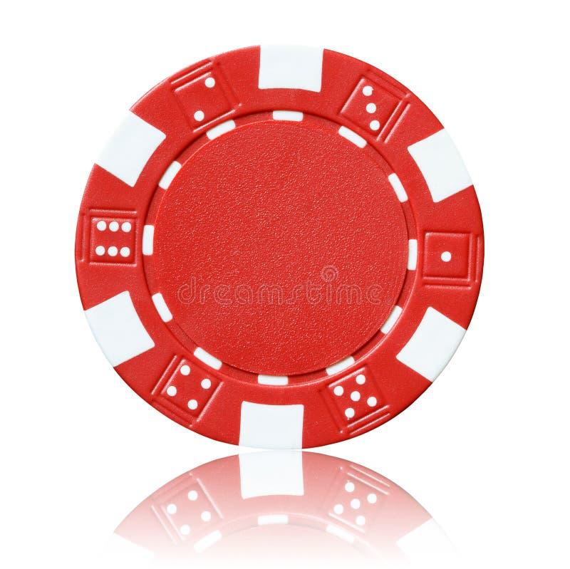 Microplaqueta de pôquer vermelha fotos de stock