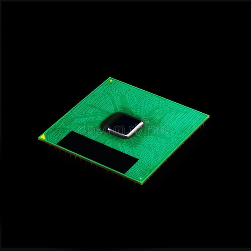 Microplaqueta de processador do processador central do computador foto de stock royalty free