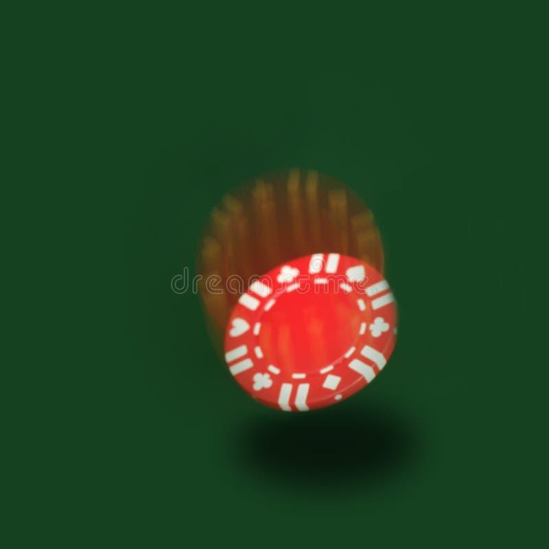 Microplaqueta de queda do póquer foto de stock