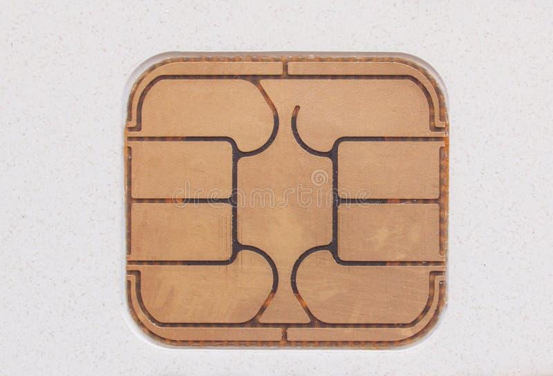 Microplaqueta do cartão foto de stock royalty free