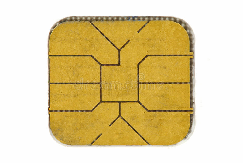 Microplaqueta do cartão de crédito fotografia de stock