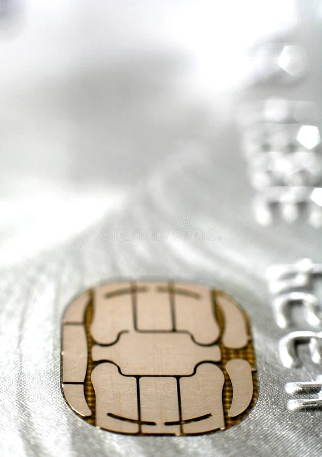 Microplaqueta do cartão de crédito imagens de stock royalty free
