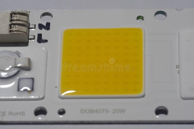 Microplaqueta do diodo emissor de luz fotografia de stock royalty free