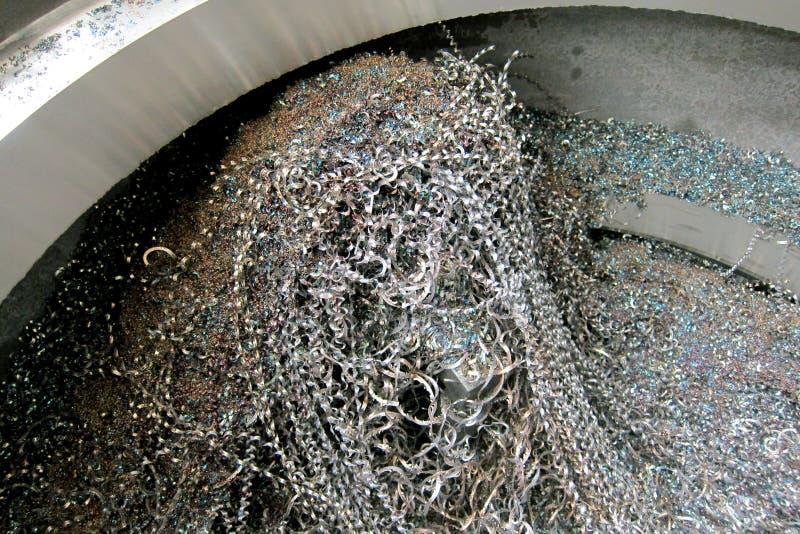 Microplaqueta do metal imagens de stock