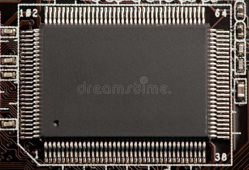 Microplaqueta do microchip ou do microcircuito imagem de stock