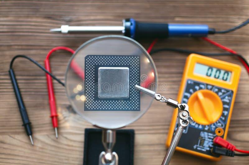 Microplaqueta do processador central imagem de stock royalty free