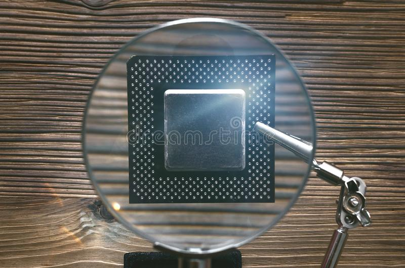 Microplaqueta do processador central imagens de stock royalty free