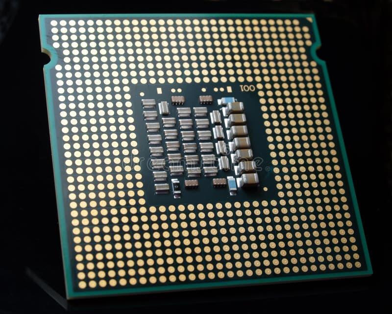 Microplaqueta do processador central fotografia de stock
