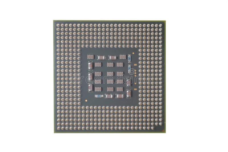 Microplaqueta do processador central do PC fotografia de stock royalty free