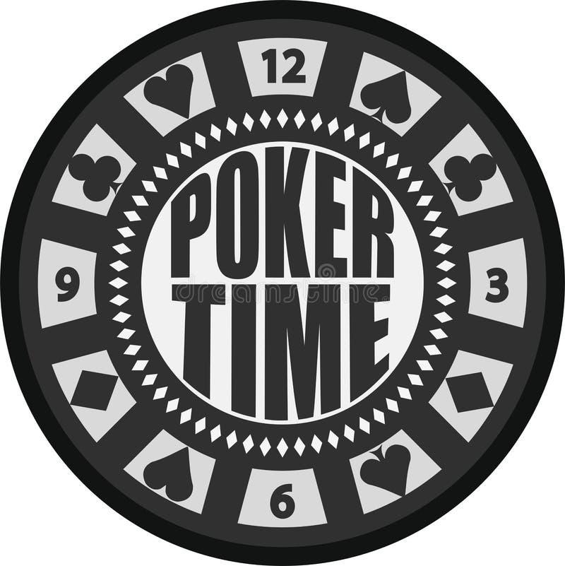 Microplaqueta do tempo do pôquer imagem de stock