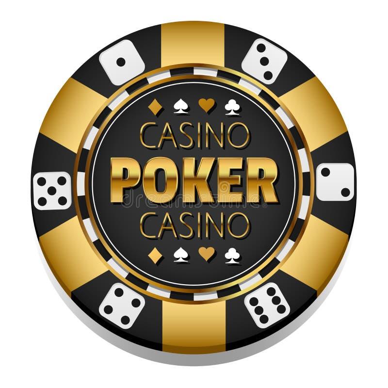 Microplaqueta dourada do casino do vetor gambling ilustração do vetor