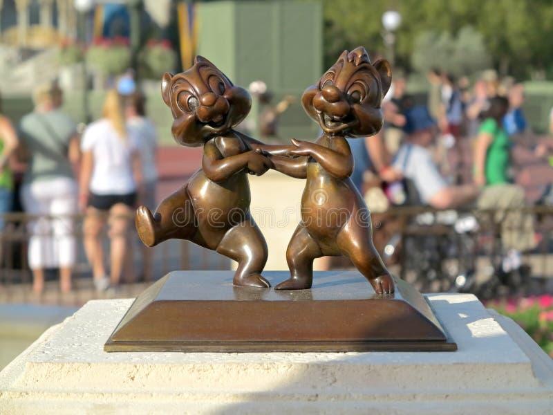 Microplaqueta e Dale Statue fotografia de stock