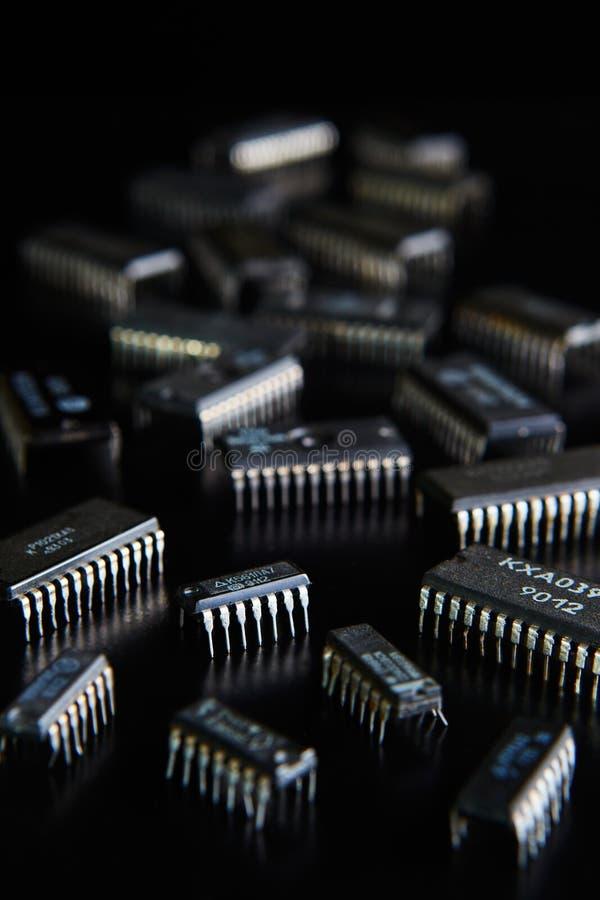Microplaqueta eletrônica imagem de stock