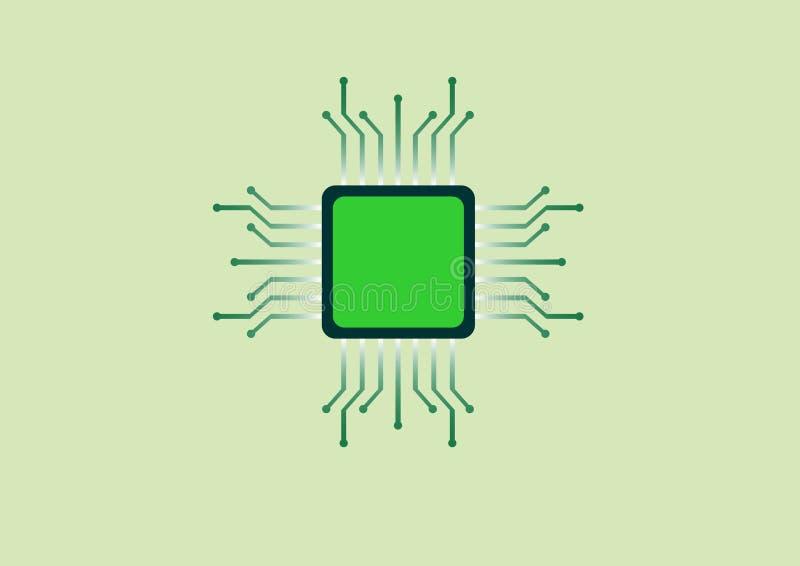 Microplaqueta eletrônica ilustração do vetor