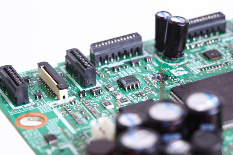 Microplaqueta eletrônica a bordo imagens de stock royalty free