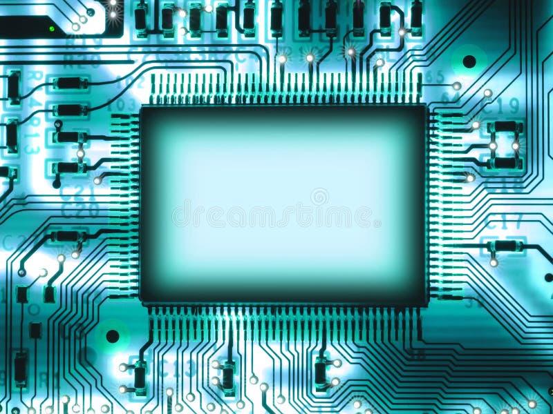 Microplaqueta em branco fotografia de stock royalty free