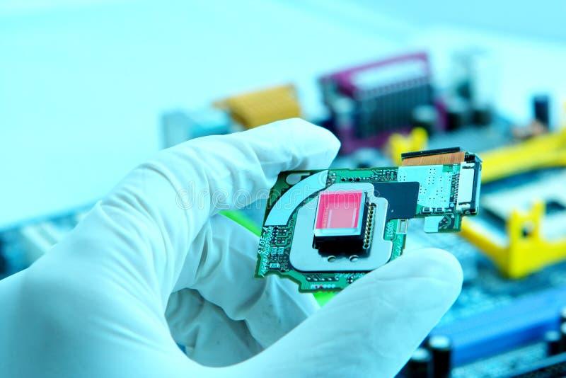 Microplaqueta high-technology fotos de stock