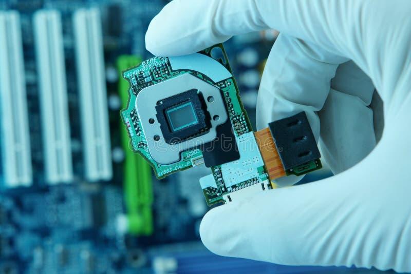 Microplaqueta high-technology foto de stock
