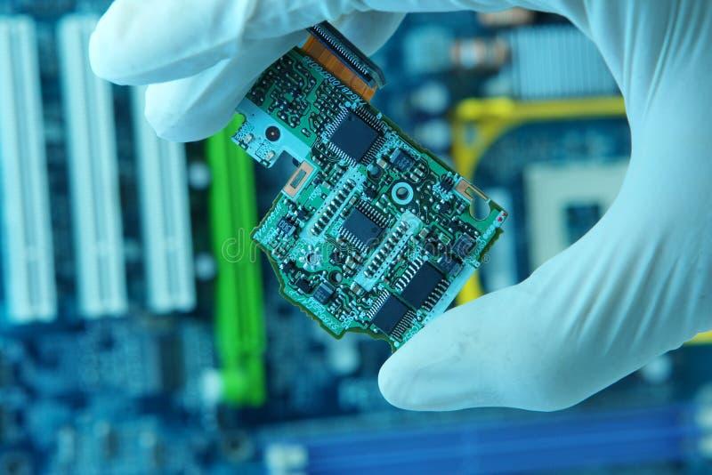 Microplaqueta high-technology fotos de stock royalty free