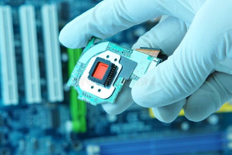 Microplaqueta high-technology imagens de stock