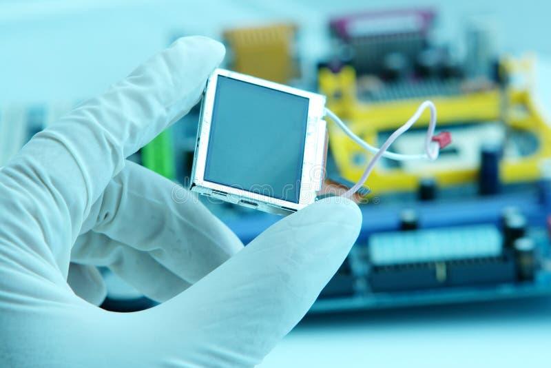Microplaqueta high-technology imagem de stock