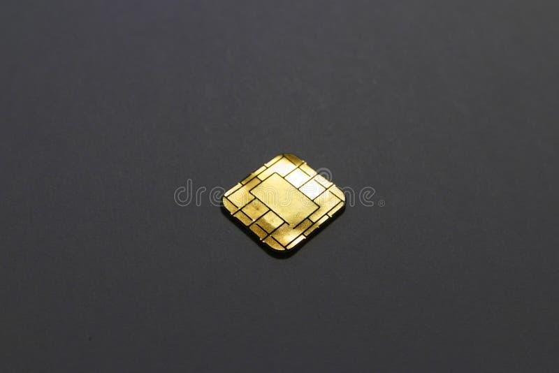 Microplaqueta isolada do simcard da G/M foto de stock royalty free