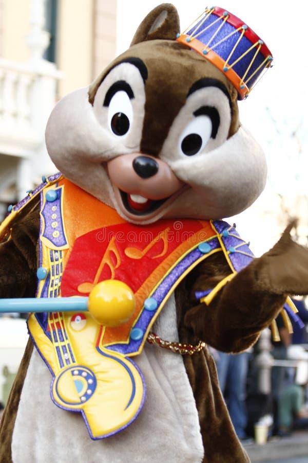 Microplaqueta na parada de Disneylândia fotografia de stock