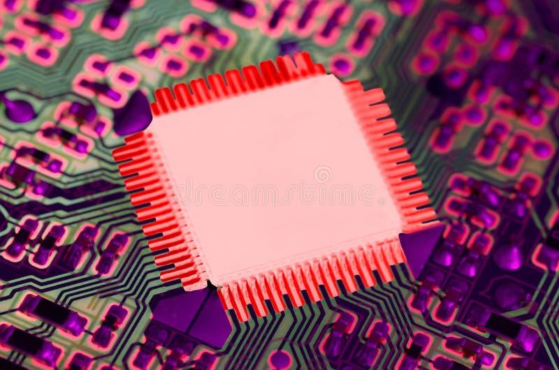 Microplaqueta superaquecida foto de stock