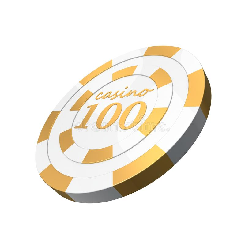 Microplaqueta superior do casino ilustração royalty free
