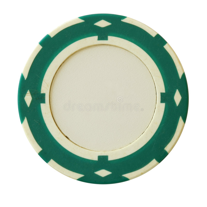 Microplaqueta verde do casino imagens de stock royalty free