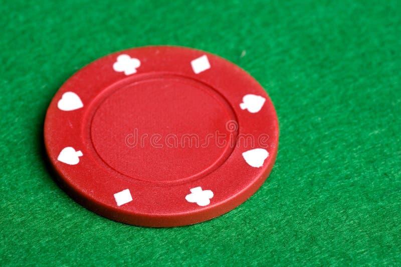 Microplaqueta vermelha do póquer fotos de stock royalty free