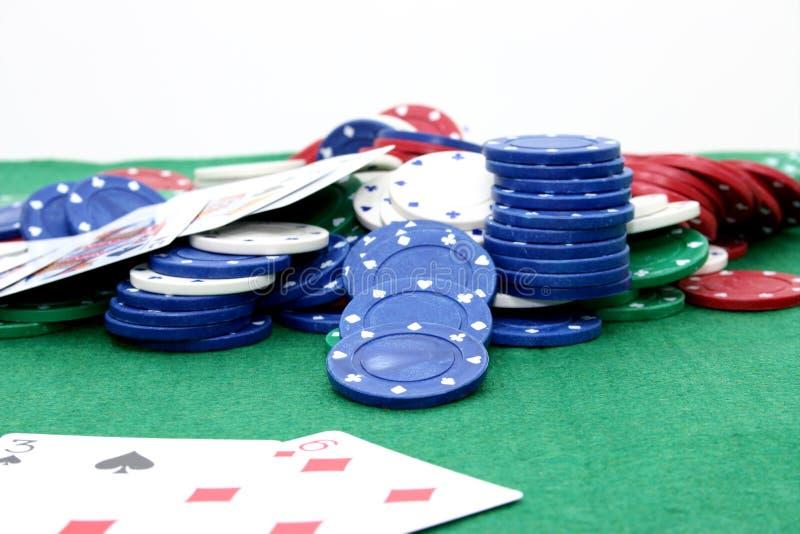 Microplaquetas 02 do póquer fotografia de stock royalty free