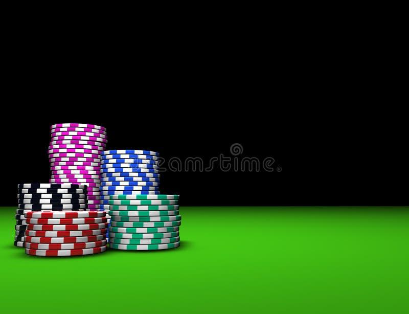 Microplaquetas coloridas do casino ilustração stock