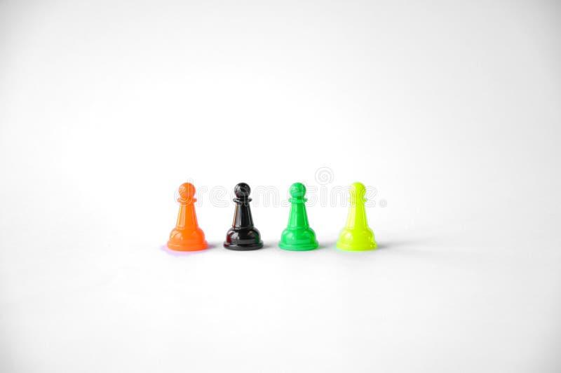 Microplaquetas coloridas na tabela foto de stock royalty free