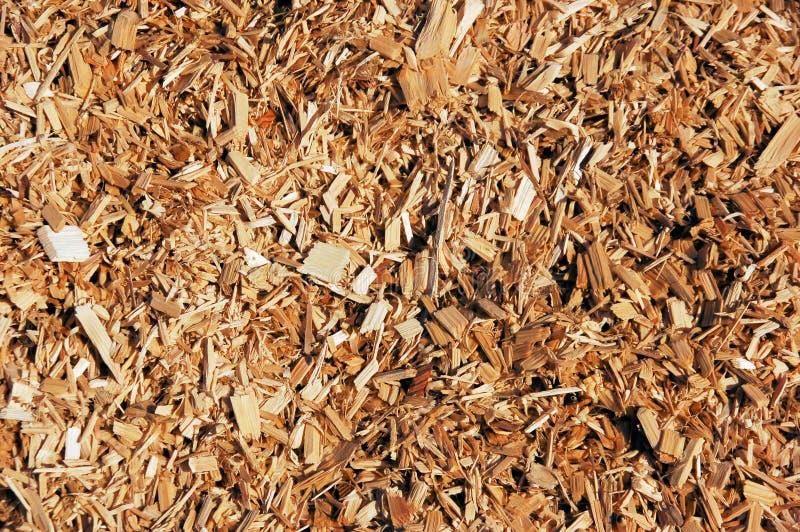 Microplaquetas de madeira fotografia de stock royalty free