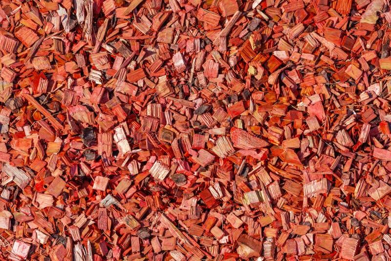 Microplaquetas de madeira vermelhas, textura sem emenda imagens de stock royalty free